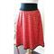 Women's Red Skirt Gold Skirt Cotton Skirt. Christmas Skirt.